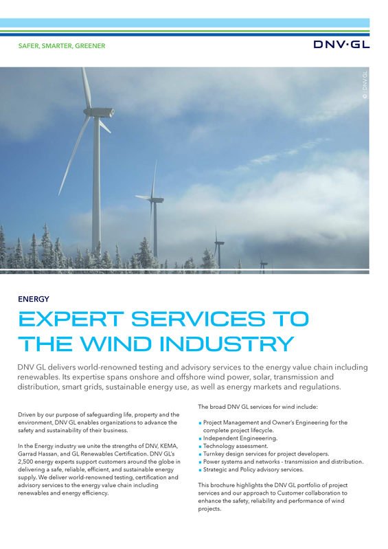 Expert services to the wind industry