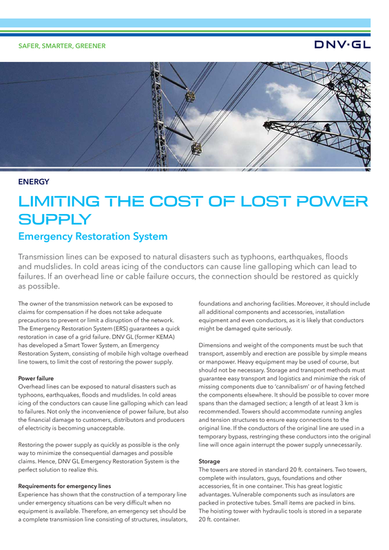 Limiting the cost of lost power supply