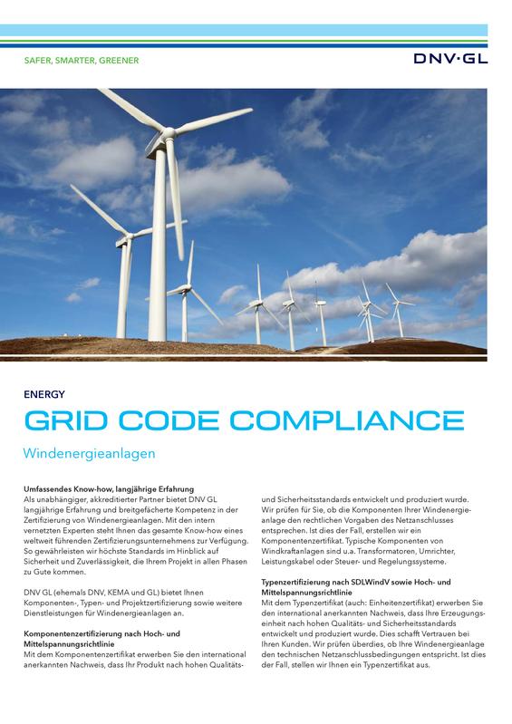 Grid Code Compliance für Windenergieanlagen
