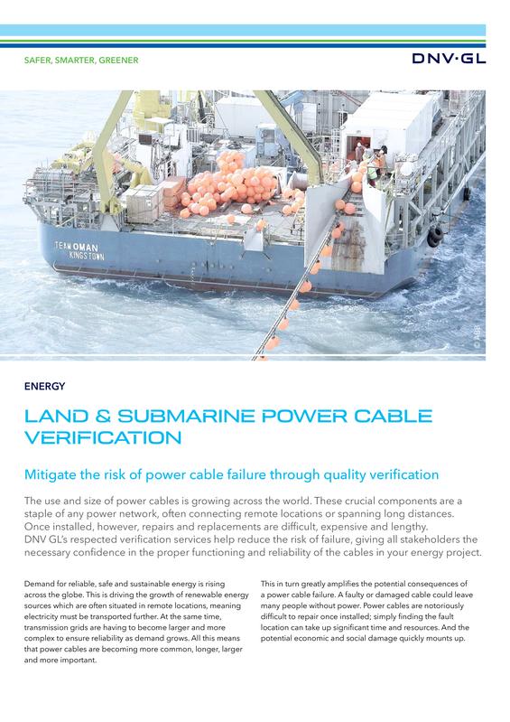 DNV GL power cable verification.pdf