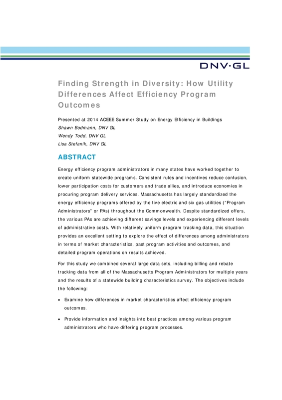Finding Strength in Diversity: How Utility Differences Affect Efficiency Program Outcomes