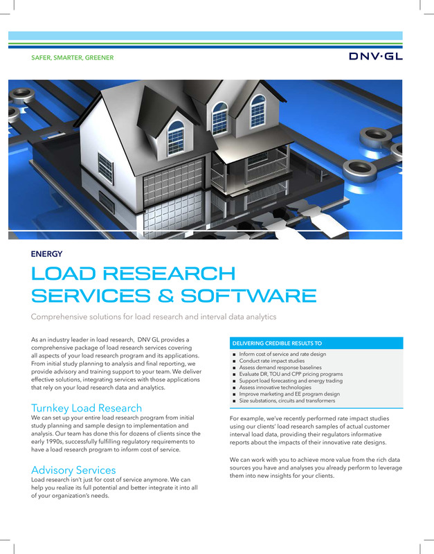 Load research services and software