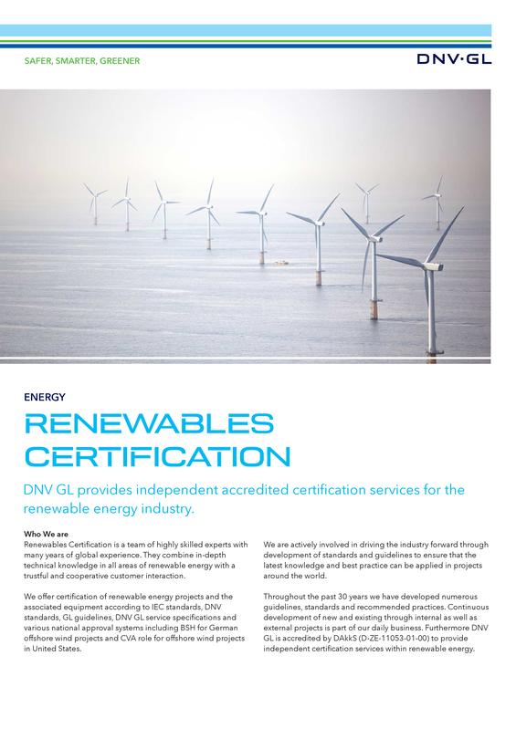 Renewables Certification