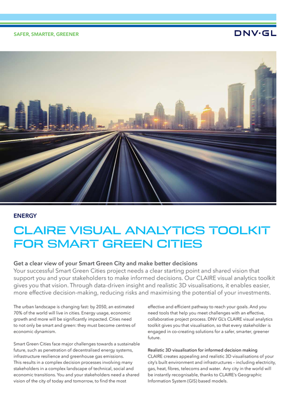 CLAIRE visual analytics toolkit for smart green cities