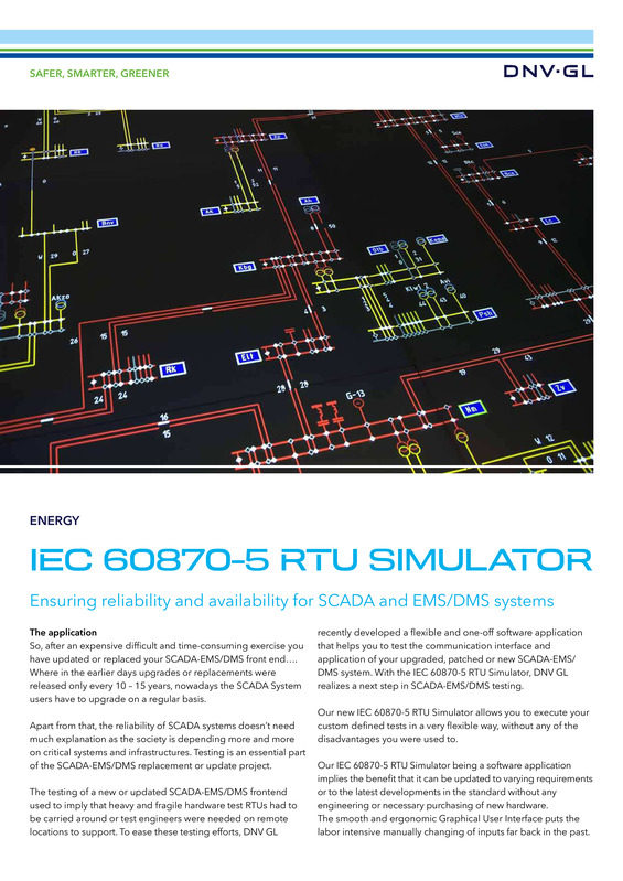 IEC 60870-5 RTU simulator