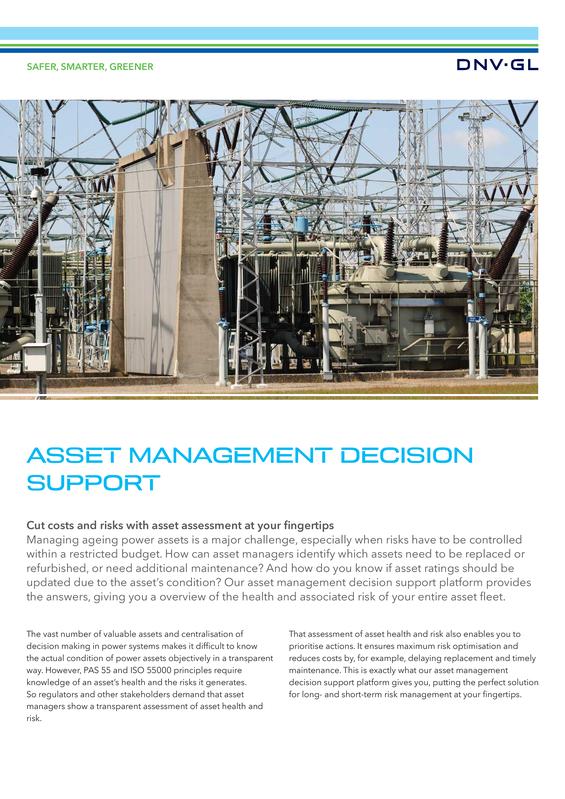 Asset management decision support