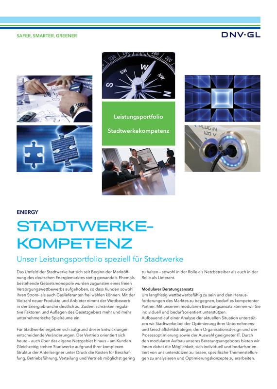 Stadtwerkekompetenz -  Leistungsportfolio
