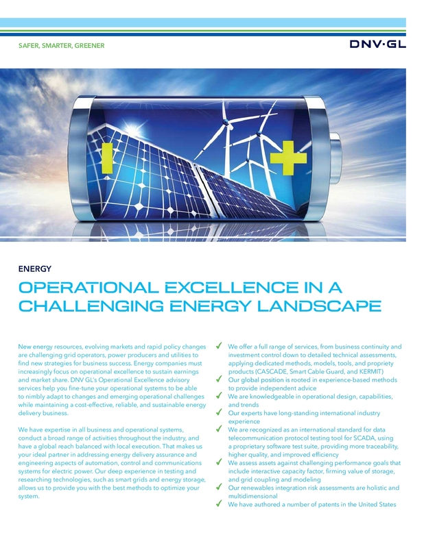 Operational Excellence in a Challenging Landscape