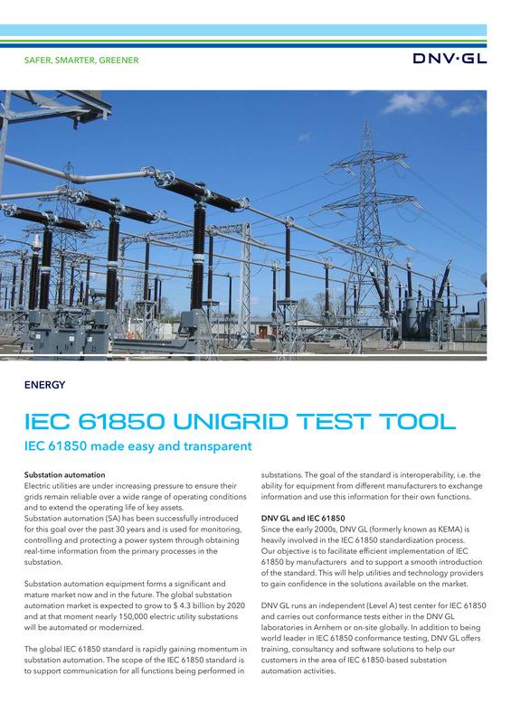 IEC 61850 UniGrid test tool
