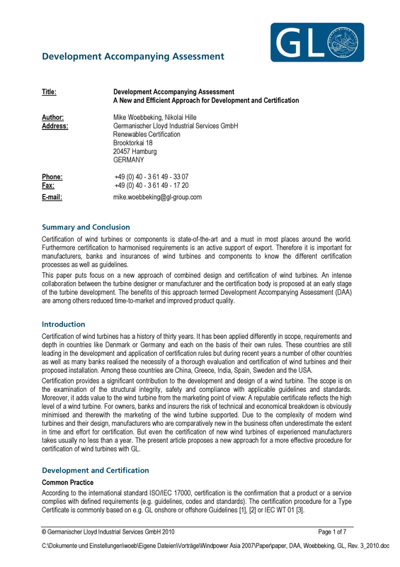 Development Accompanying Assessment GL paper