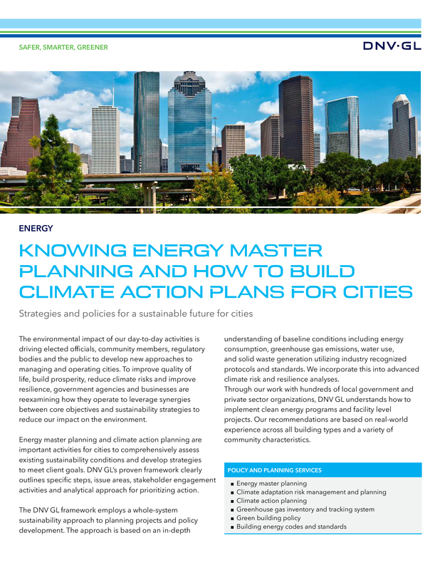 Knowing energy master planning and how to build climate action plans for cities