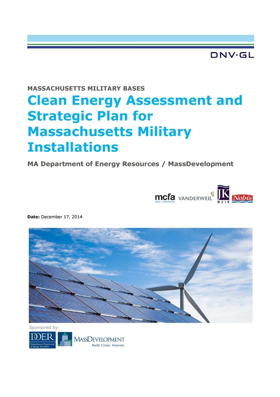 Clean Energy Assessment and Strategic Plan for Massachusetts Military Installations
