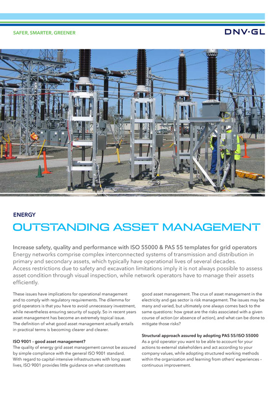 Outstanding asset management