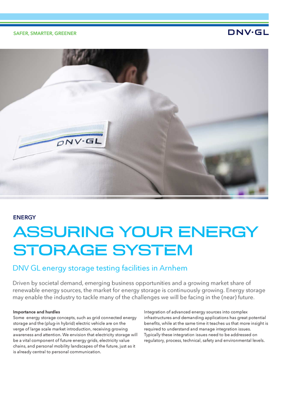 Assuring your energy storage system