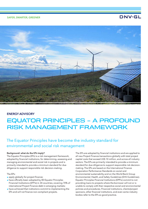 Equator principles  - a profound risk management framework