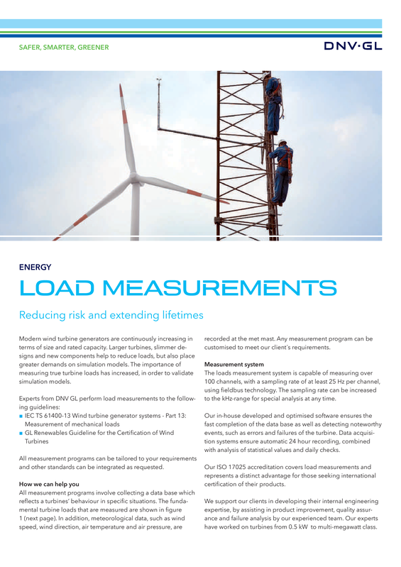Load measurements for wind turbines