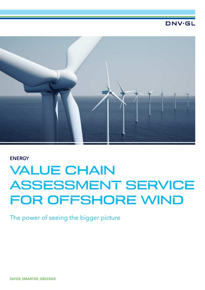 Value chain assessment service for offshore wind