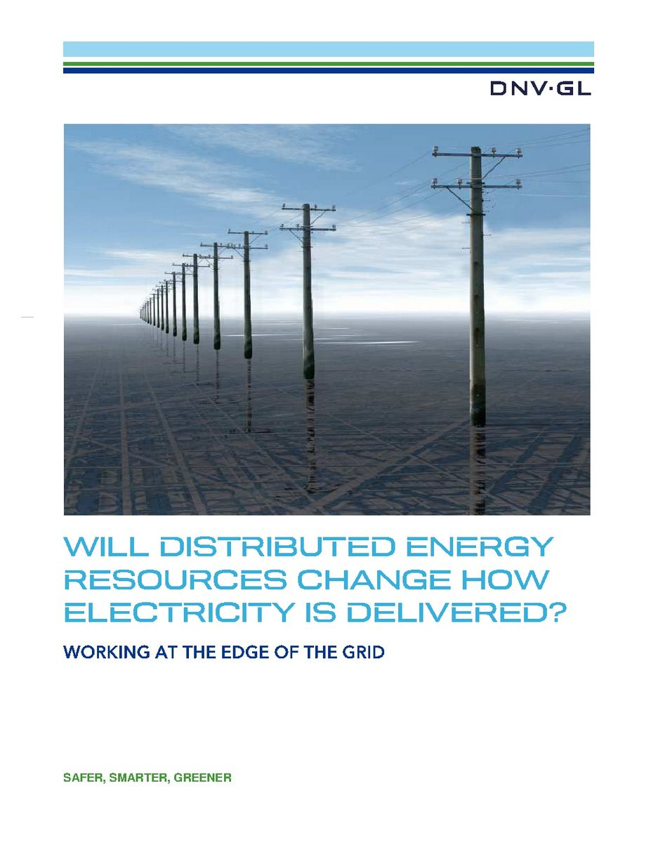 Will Distributed Energy Resources Change How Electricity is Delivered?