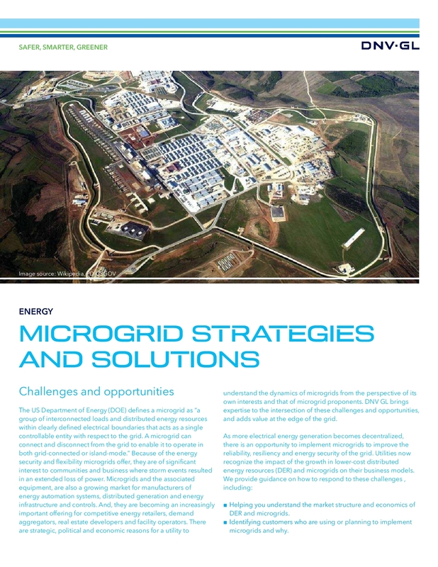 Microgrid strategies and solutions