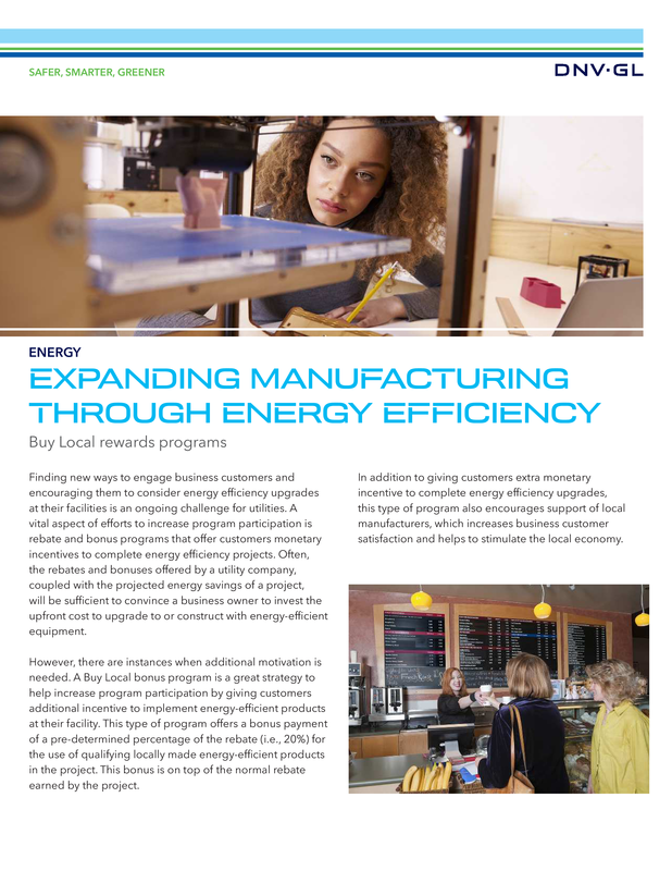 Expanding manufacturing through energy efficiency