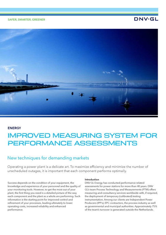Improved measuring system for performance assessments