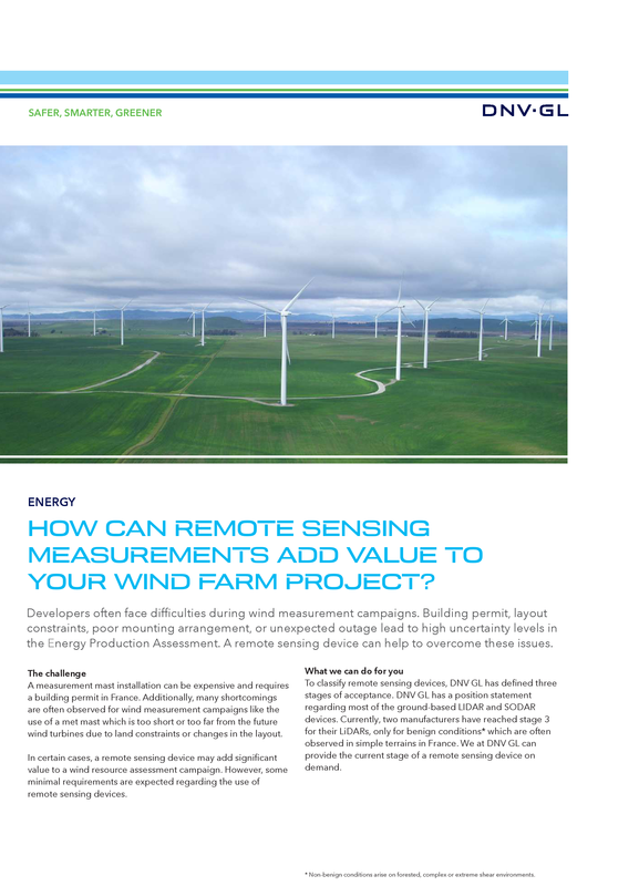 How can remote sensing measurements add value to your wind farm project?