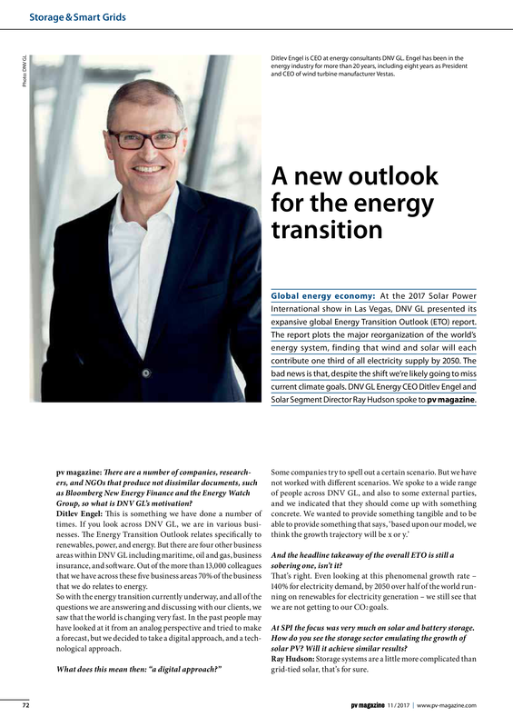 PV Magazine 11-2017 A new outlook for the energy transition