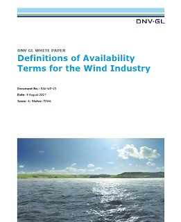 Definitions of availability terms for the wind industry