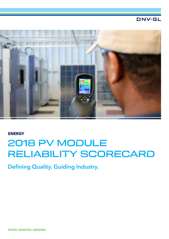 PV Module Reliability Scorecard 2018