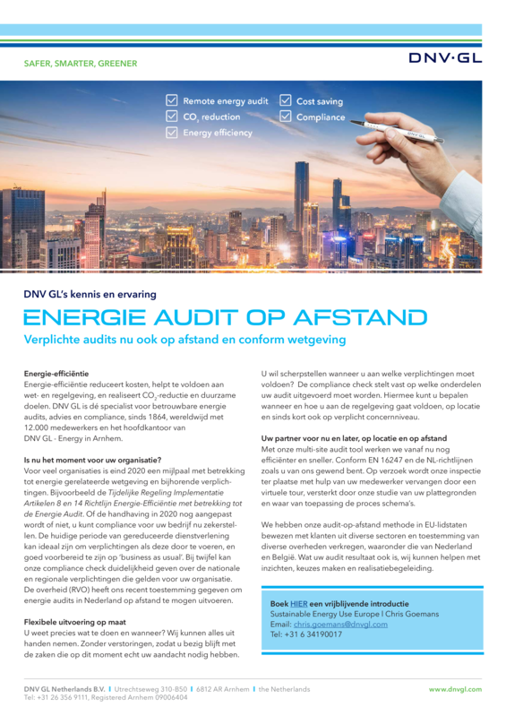 Energie audit op afstand