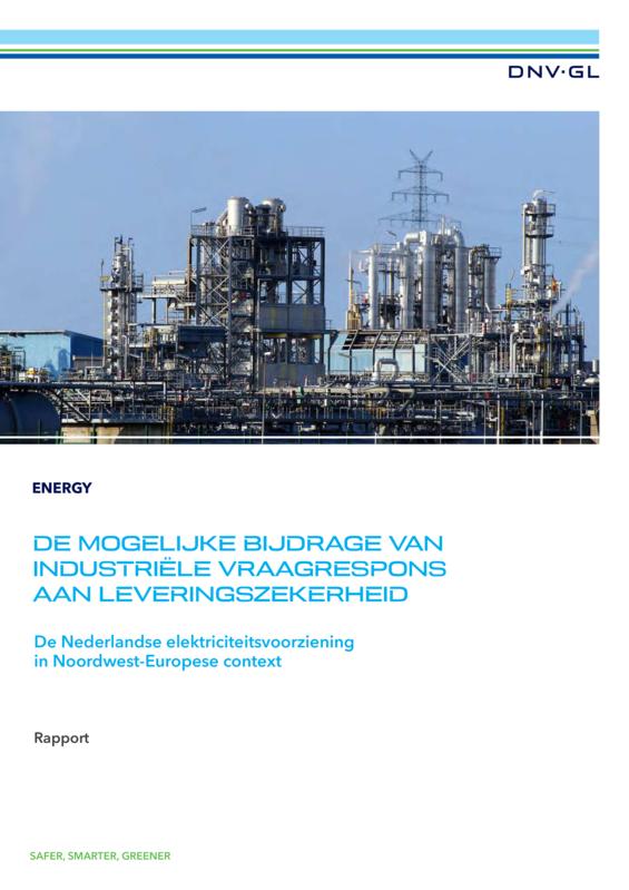 De mogelijke bijdrage van industriële vraagrespons aan leveringszekerheid - rapport