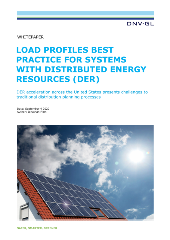 Load profiles best practice for systems with DER - Whitepaper