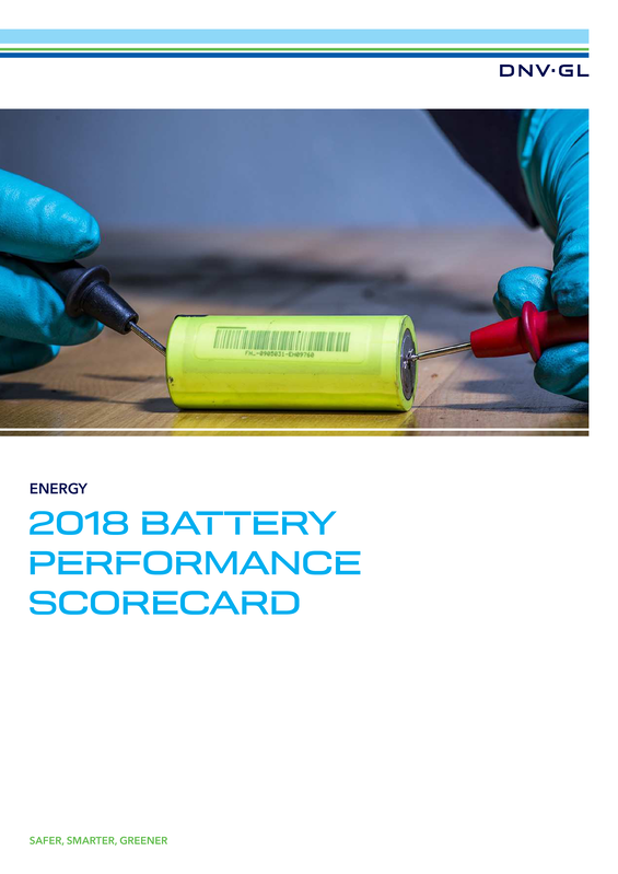2018 Battery Performance Scorecard Pages View