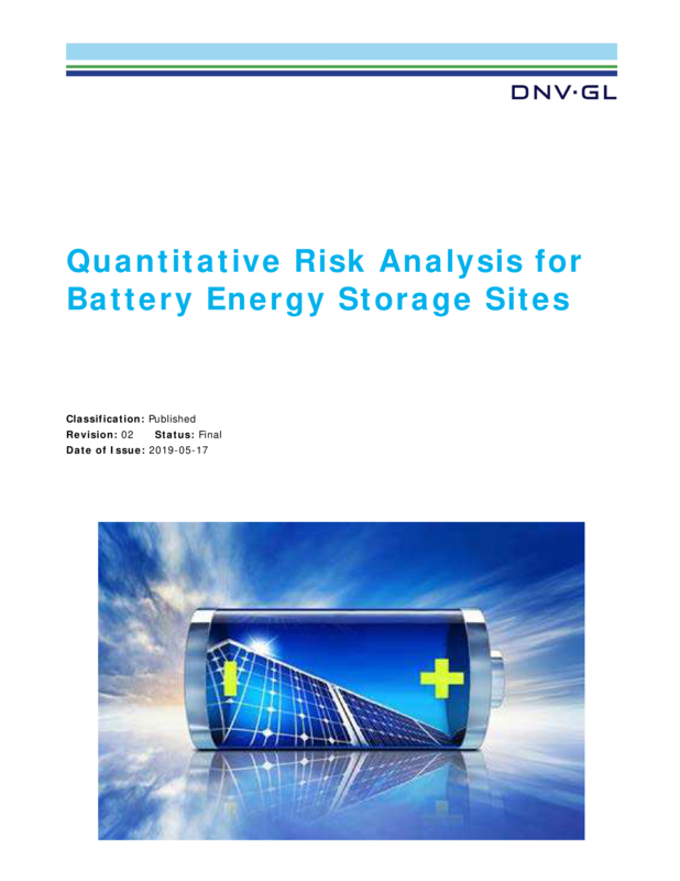 Quantitative Risk Analysis for Battery Energy Storage Sites
