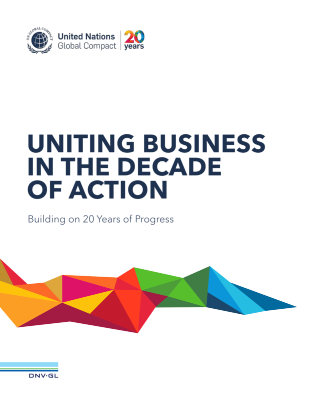 DNV GL report for UNGC Uniting business in the Decade of Action_2020 single page high resolution
