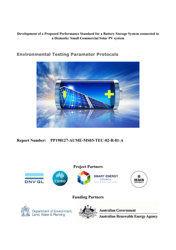 ABPS Environmental testing parameters protocols