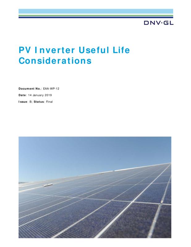 PV inverter useful life considerations
