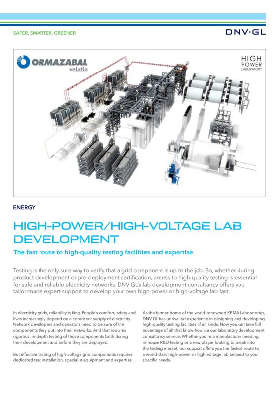 High-power/high-voltage lab development