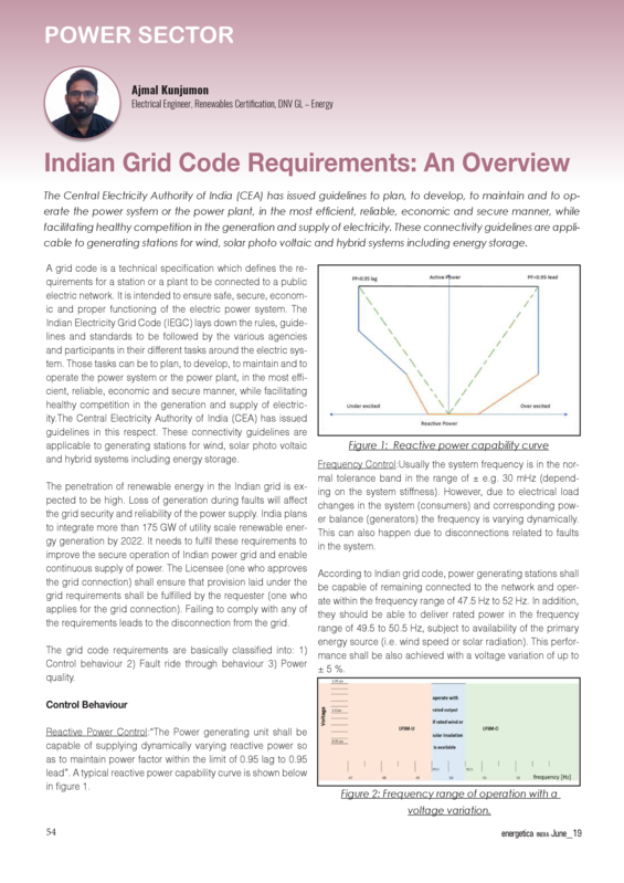 Energetica India 06-2019 Indian grid code requirements