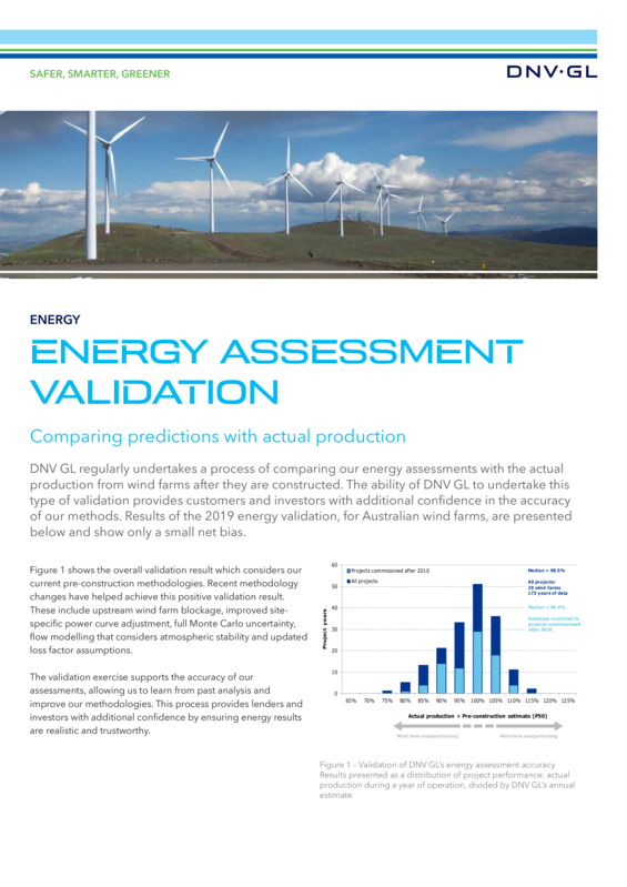 Australia Energy Assessment Validation