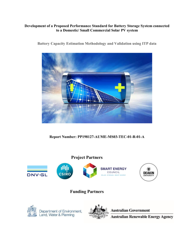 ABPS Battery capacity estimation methodology - report