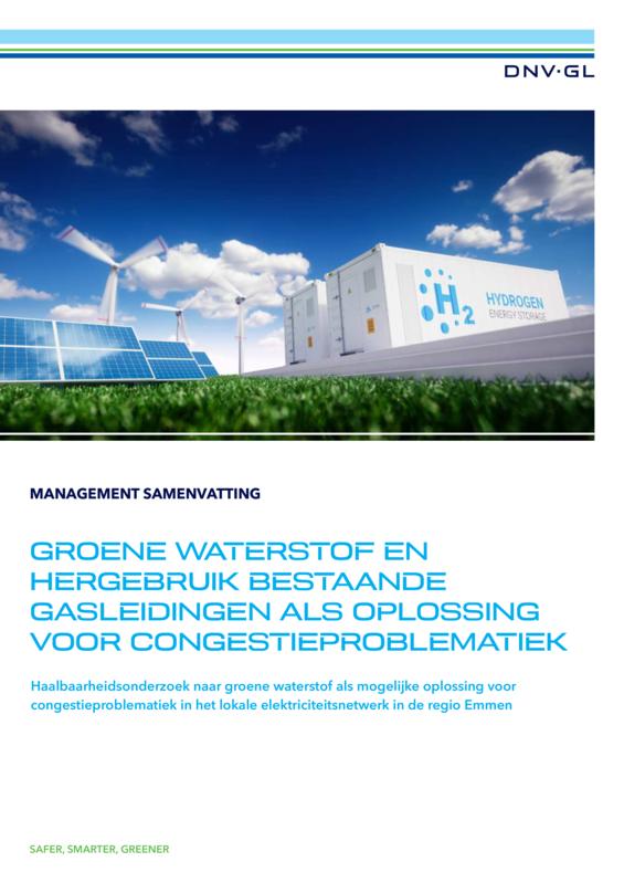 Groene waterstof en hergebruik bestaande gasleidingen als oplossing voor congestieproblematiek - managementsamenvatting