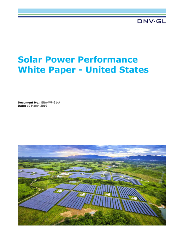Solar Power Performance - United States