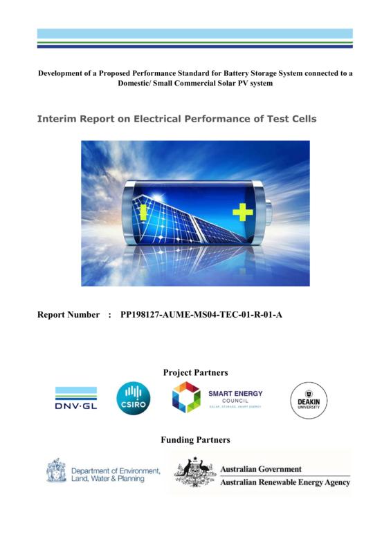 ABPS Battery testing activities - interim report 2