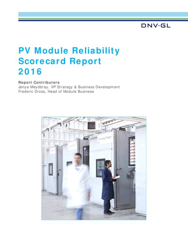 PV Module Reliability Scorecard Report 2016