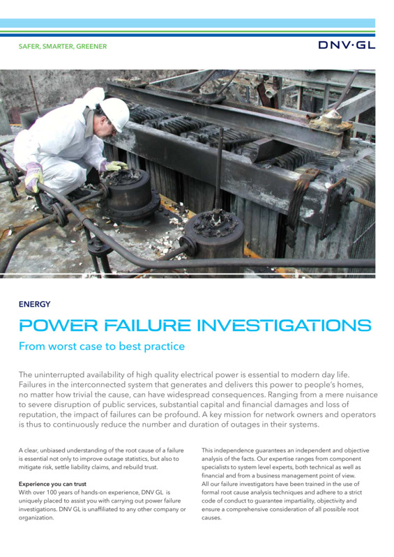 Power Failure Investigations Singapore