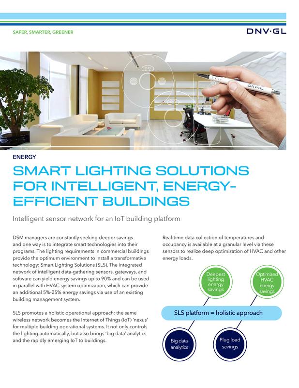 Smart lighting  solutions for intelligent, energy-efficient buildings