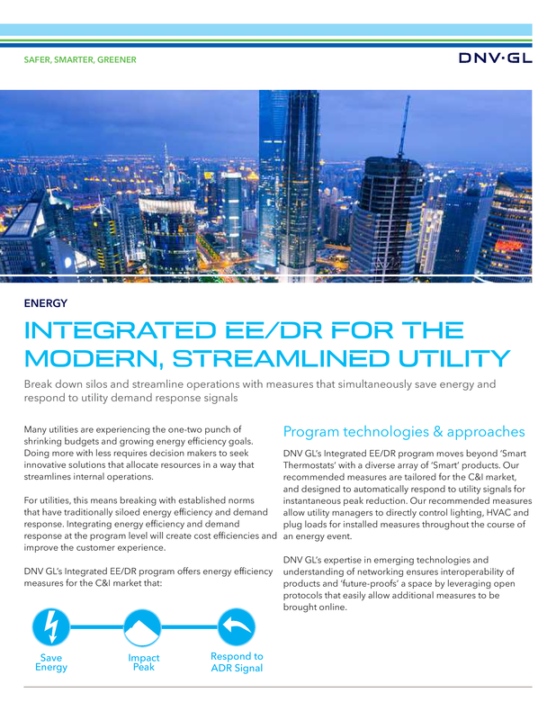 Integrated EE-DR for the modern, streamlined utility